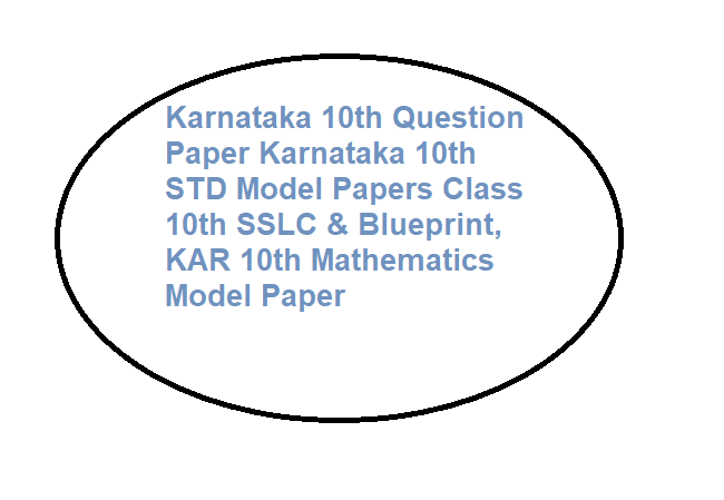 Karnataka 10th Question Paper 2020, Karnataka 10th STD Model Papers 2020 Class 10th SSLC & Blueprint, KAR 10th Mathematics Model Paper 2020