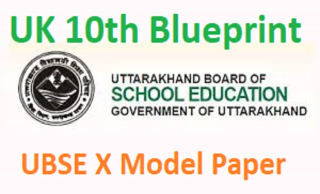 UK 10th Blueprint 2021 UBSE X Model Paper 2021 Hindi English Urdu